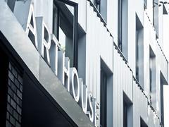 Arthouse Angle (Orbmiser) Tags: 55200vr d90 nikon oregon portland summmer building sign metal