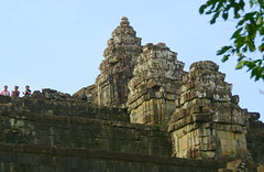 Three Women, Three Towers (Neil Noland) Tags: cambodia siemreap angkor phnombakheng temple ruin