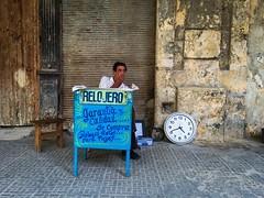 Havana. Cuba (H.L.Tam) Tags: cuban photodocumentary street streetphotography iphoneography harbana sketchbook watchmaker iphone6s cubasketchbook watchrepair documentary havana watch habanavieja cuba iphone