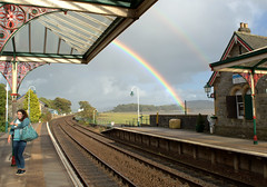 Rainbow at Grange over Sands - 6 (Tony Worrall) Tags: england northern uk update place location north visit area county attraction open stream tour country welovethenorth northwest unitedkingdom cumbria cumbrian grange grangeoversands nature beauty rainbow scene sky natural lovely color colours great station grangestation railway
