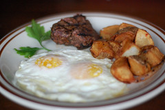 "Steak & Eggs • <a style=""font-size:0.8em;"" href=""http://www.flickr.com/photos/77499577@N07/6992982518/"" target=""_blank"">View on Flickr</a>"