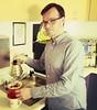 Mr. Gelinas Making Coffee (spieri_sf) Tags: flickrhq foursquare:venue=4b144582f964a5204aa023e3