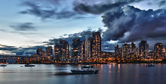 False Creek @ Dusk (d5photo.com) Tags: ocean sunset night vancouver clouds nikon downtown bc britishcolumbia falsecreek yvr hdr granvillebridge d800 burrardbridge markdonovan efexpro milovosch falsecreeksunset d5photocom