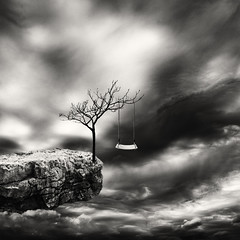 sky swing (windrides) Tags: sky tree clouds fake manipulation swing infrared reality d300 d3x