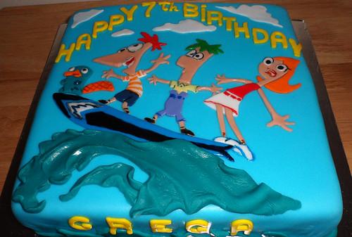 Phineas Ferb Birthday Cake