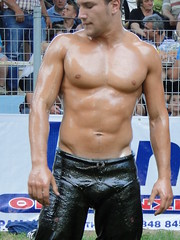 A Turk wrestler (d.mavro) Tags: shirtless beautiful leather sport greek big fighter nipples body masculine muscle muscular wrestling chest traditional butt north handsome hunk sensual arena greece strong torso wrestler biceps hombre hommes turk homme bulge serres jeune grecoroman muchacho pehlivan yal gre athlet nigrita