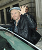 Simon Pegg leaving the BBC Radio 2 studios London, England
