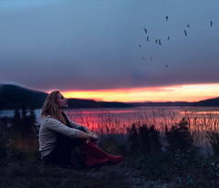 Everyday (Sophia Alexis) Tags: alexis sunset summer portrait colors birds norway self canon eos 50mm sigma 7d sophia