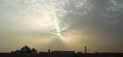 (Yaman Y) Tags: street sky sunshine clouds شمس ، شارع سماء غيوم شروق أشعة