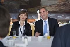 Monika Jones and Burkhard Jung attend the reception