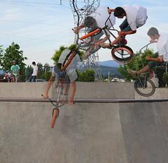 Jump in Motion (JoshCastro) Tags: bike photoshop bmx skatepark clone
