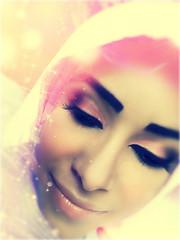 Close Your Eyes (DesertWindsPhotography) Tags: pink light yellow women veil muslim hijab makeup cover arab