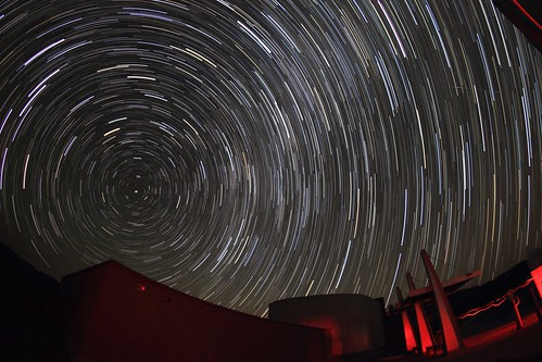 Startrails + Meteor at the McDonald Observatory