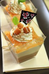 Panna Cotta with apples (·D.M·) Tags: food milk sweet chocolate nuts cream sugar desserts homemade praline