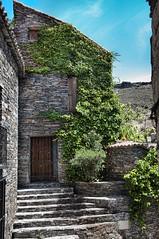 En Patones no hay patos.... (Miguel ngel Prieto) Tags: madrid door puerta plantas fachada piedras patones pizarra