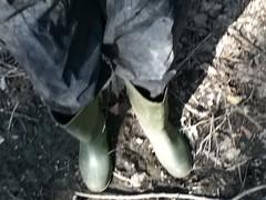 Green 1 (Felix Boots) Tags: mud stuck boots deep rubber wellies muddy rubberboots rainwear raingear