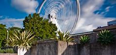Brisbane Wheel at South Bank (hug_em_) Tags: park wheel photoshop river nikon long exposure south 7 bank australia brisbane adobe queensland flax lightroom cs6 nd8 18105mm nd16 d5100