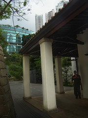 Walkway outside old barracks (cumulo-nimbus) Tags: architecture hongkong asiasociety april2012
