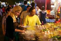 Jalan Alor (Mathijs Buijs) Tags: street food fish vegetables night canon eos asia market chinese balls malaysia 7d vendor kuala jalan dim lumpur sum alor