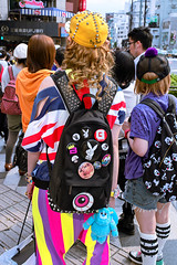 G-Dragon, TOP & Super Lovers, Harajuku (tokyofashion) Tags: hat fashion japan tokyo bigbird top harajuku backpack rucksack studs 2012 kpop superlovers loversrock gdragon gdtop