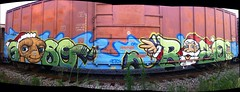 Getso & Bozo (Dixie Destruction) Tags: santa christmas xmas railroad train graffiti rail end boxcar et freight gets bozo clause fr8 e2e getso