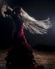 Flamenco: Ilusiones; By Carmel Natan Sheli (Flavio~) Tags: dance theatre stage flash dancer flamenco artificiallighting givatbrenner onstagephotography carmelnatansheli