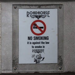 NO SMOKING (Leo Reynolds) Tags: sign canon eos 7d f80 56mm signsafety iso500 signno hpexif 0011sec signnosmoking signcirclebar xleol30x