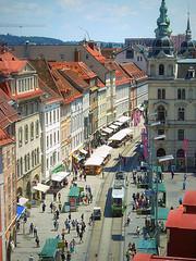Graz (nviki89) Tags: street city urban buildings austria sterreich europe stadt graz steiermark 2012 styria mygearandme mygearandmepremium mygearandmebronze mygearandmesilver