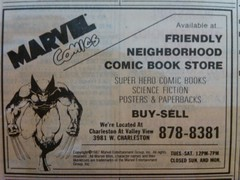 Friendly Comic book Store 1988 (frankasu03) Tags: las vegas vintage book comic retro business 80s shops 90s