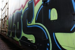 Kose (The Braindead) Tags: street art minnesota train bench photography graffiti interesting paint flickr painted tracks minneapolis twin rail explore most beyond the braindead cites kose flickrs benched thebraindead