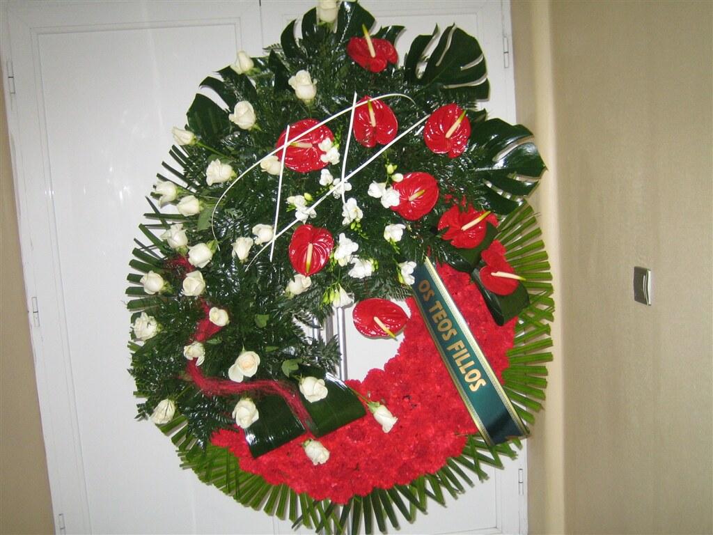 corona de flor natural para funeral