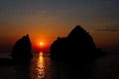 Athos, Porthos, Aramis and the setting Sun (Nikos O'Nick) Tags: sunset sun dylan island nikon flickr wind bob nikos greece blowin setting athos porthos aramis limnos lemnos d300s kotanidis