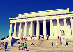 Doric Temple (SOMETHiNG MONUMENTAL) Tags: travel summer architecture canon columns nationalmall lincolnmemorial g11 greektemple washigntondc doricorder somethingmonumental mandycrandell