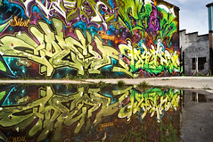 Coler Machine STK Reflection Summer 2012 (i-seen-it RubenS) Tags: urban graffiti mural texas silent tx houston graff takeover htown stk texasgraffiti htx houstongraffiti graffalot graffiti2012