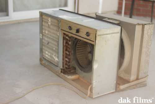 old vintage photography airconditioner