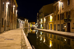 Night on the canal (Kathy~) Tags: italy water night canal empty comacchio friendlychallenges fotocompetition fotocompetitionbronze gamex2winner herowinner thepinnaclehof gamesweepwinner tphofweek164
