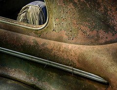 Backseat Confidential (rickhanger) Tags: abandoned window car acdc rust rusty chrome backseat abandonedcar supershot flickrdiamond backseatconfidential