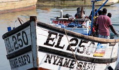 Fishing in Elmina (Makaiohana1) Tags: africa dutch ghana fishingboats goldcoast colonialism portugese slavetrade elmina