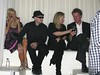 Paris Hilton, Benji Madden, Kathy Hilton and Rick Hilton celebrate Nicky Hilton's birthday at Pure nightclub in Caesars Palace Hotel and Casino Las Vegas, Nevada