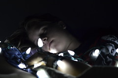 008 (colleenmcaleer) Tags: girls light sleeping girl smile face night hair nose hand faces sleep fairy asleep fairylights