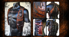 classic.holster.two.tone.brown.vintage.gunslinger.leather.resonating.threads (Ahni Radvanyi) Tags: california man leather festival belt utility playa storage wear burning pouch anchor hood hip holster threads leatherwork ahni resonating radvanyi