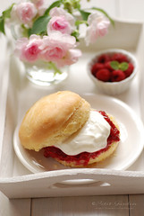 scone with raspberries (..: Petit Garden :..) Tags: flower cream july homemade raspberry scone 2016