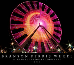 Branson Ferris Wheel (Thomas  Johnson Photography) Tags: missouri outside outdoors canon digital 40d scenic navypierferriswheel branson ferriswheel lightshow light colorful beautiful 2016 thomasjohnsonphotography thomasjohnsonphotography bransonmissouri trackparks tourist tourism night nighttime