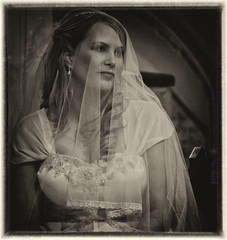 Words are not enough today. (Neil. Moralee) Tags: neilmoralee bride veil vail monotone black white bw blackandwhite framed love woman lady girl young sweet wedding silver efex lightroom beauty innocence nikon d7100 monochrome shrouded mystery antisipation nikond7100 toned