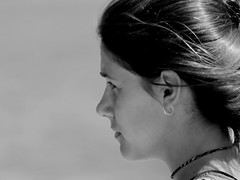 Street Portrait (patrick_milan) Tags: noiretblanc blackandwhite noir blanc monochrome nb bw black white street rue people personne gens streetview fminin femal femme woman women girl fille belle beautiful portrait face candide