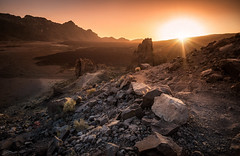 Teide Sunset (ScottSimPhotography) Tags: tenerife sunset teide sun evening afternoon dusk endoftheday rocks volcano volcanic nationalpark desert pink rocky path orange travel nationalgeographic visit trip climbing hiking walking