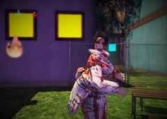 An Otherworldly Shoulder Massage (insipidSoup) Tags: caderu hunt secondlife ghost yukata blood horror freebies free