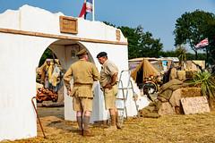 Inspecting the Paint Job - Desert Rats (Paul Parkinson LRPS (parkylondon)) Tags: 2016 august detling kent militaryodyssey history livinghistory military reenactment warfare