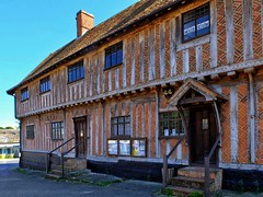 Museum Building in Laxfield (velodenz) Tags: velodenz fujifilm x30 digital image phot photo photograph photography cycling cycletouring cyclisme cyclotourisme ctc cyclinguk holiday vacation en vacances trip birthday rides suffolk east anglia england united kingdom uk great britain gb laxfield village museum halftimbered timber frame colombage