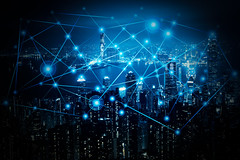 Blue tone city scape and network  connection (Krunja) Tags: abstract atom background blue business city communication community computer concept connect connection connectivity creative data design digital electronic element energy fantasy geometric global graphic icon idea infograph infographic internet light line medical modern morden motion network networking office shape skyline skyscrapers social structure symbol technology wallpaper web wifi world hongkong hongkongisland hk